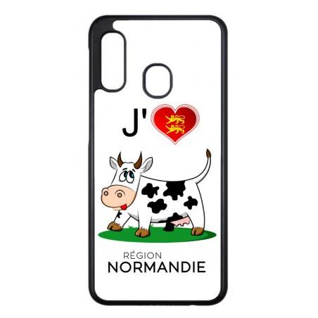 Coque noire pour Samsung Galaxy GRAND 2 G7106 J'aime la Normandie