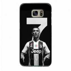 Coque noire pour Samsung Grand Prime Ronaldo CR7 Juventus Foot numéro 7
