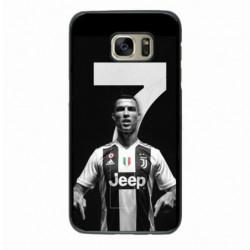 Coque noire pour Samsung S7562 Ronaldo CR7 Juventus Foot numéro 7