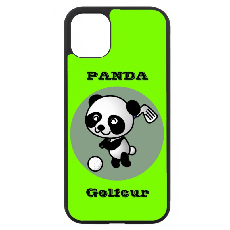 Coque noire pour Huawei P Smart 2020 Panda golfeur - sport golf - panda mignon