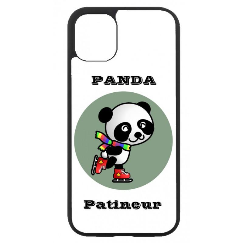 Coque noire pour Huawei P30 Pro Panda patineur patineuse - sport patinage