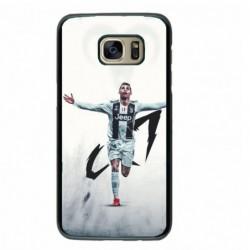 Coque noire pour Samsung i7272 Cristiano Ronaldo Juventus Turin Football CR7