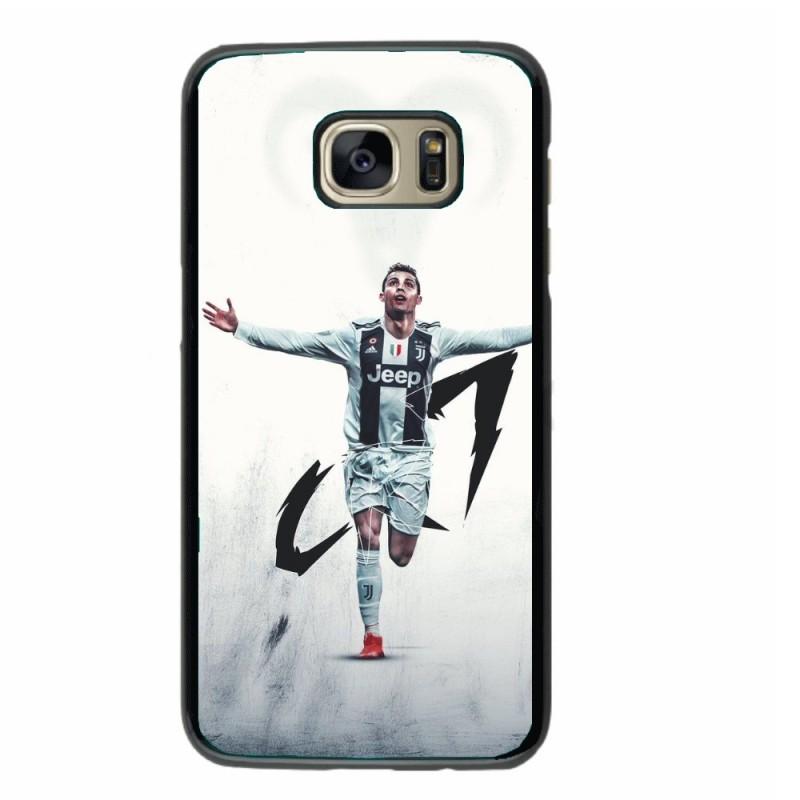 Coque noire pour Sasmung i9200 Cristiano Ronaldo Juventus Turin Football CR7