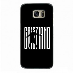 Coque pour Samsung S6 Edge Cristiano Ronaldo Juventus Turin Football gros caractères - contour noir coque-personnalisable®