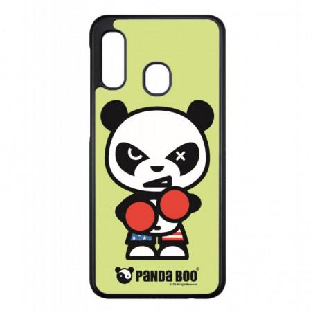 Coque noire pour Samsung Galaxy S9 PLUS PANDA BOO© Boxeur - coque humour