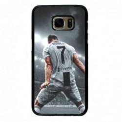 Coque noire pour Samsung i7272 Cristiano Ronaldo Juventus Turin Football stade