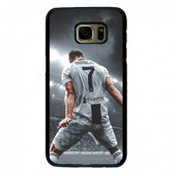 Coque noire pour Samsung J510 Cristiano Ronaldo Juventus Turin Football stade