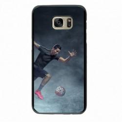 Coque noire pour Samsung S2 Cristiano Ronaldo Juventus Turin Football course ballon
