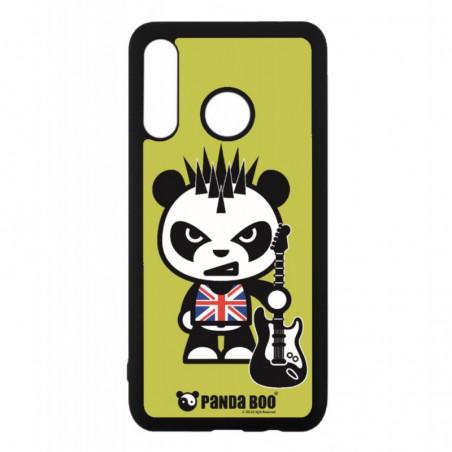 Coque noire pour Huawei P20 PANDA BOO© Punk Musique Guitare - coque humour