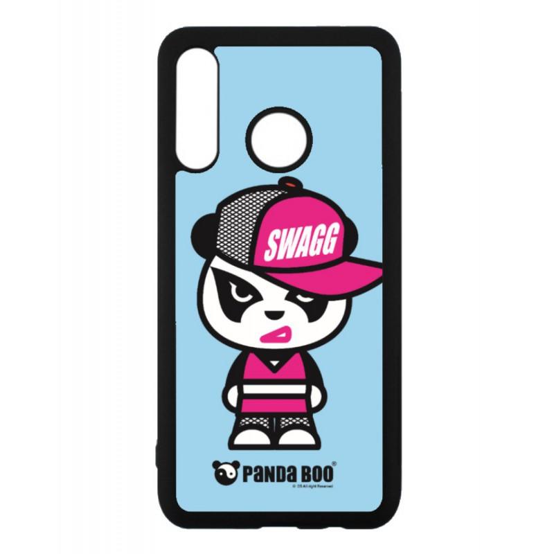 Coque noire pour Huawei P7 PANDA BOO© Miss Panda SWAG - coque humour