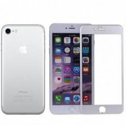 Verre Trempé pour smartphone IPHONE 6 vitre incurvée couleur Argent
