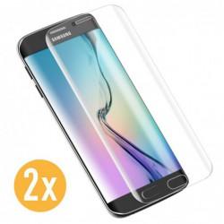 Verre Trempé pour smartphone Samsung S6 Edge Plus LOT DE 2