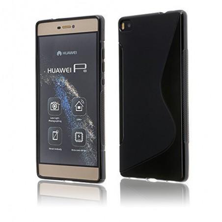 coque S-Line noire pour smartphone HUAWEI P8 LITE