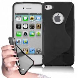 coque S-Line noire pour smartphone IPHONE 4/4S