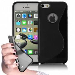 coque S-Line noire pour smartphone IPHONE Se