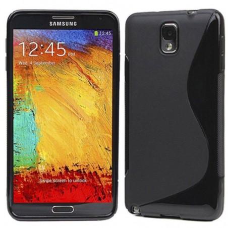 Coque intégrale S-line noire pour Samsung Galaxy Note 3 NEO - Caoutchouc Souple (Samsung Galaxy Note 3 NEO couleur noire)