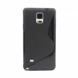 coque S-Line noire pour smartphone Samsung Galaxy Note 4 - N910/N910F/N910X