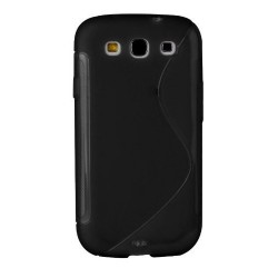 coque S-Line noire pour smartphone Samsung Galaxy S3 GT-I9300