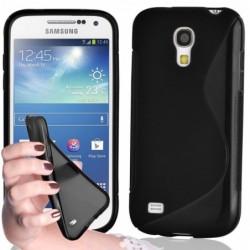 coque S-Line noire pour smartphone Samsung Galaxy S4 Mini