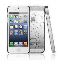 coque Goutte de pluie pour smartphone Iphone 5/Iphone 5S/Iphone SE Goutte de Pluie Blanc