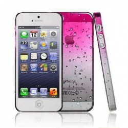 coque Goutte de pluie pour smartphone Iphone 5/Iphone 5S/Iphone SE Goutte de Pluie Rose