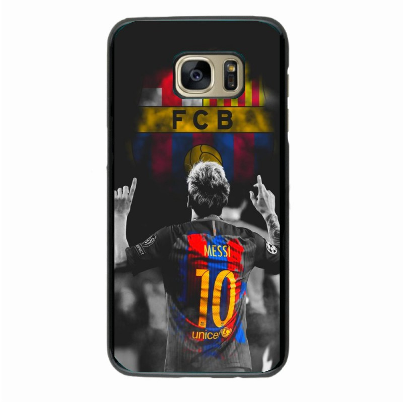 Coque noire pour Samsung S10 Lionel Messi FC Barcelone Foot