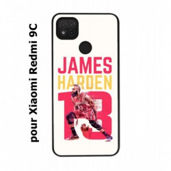 Coque noire pour Xiaomi Redmi 9C star Basket James Harden 13 Rockets de Houston
