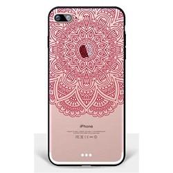 Coque Iphone 5C Silicone Transparente Motif Mandala/Totem/Géomètric M1