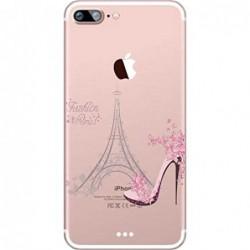 Coque HTC Désire 820 Silicone Transparente Motif Paris/Romantique