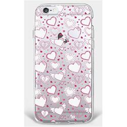 Coque Iphone 5C Silicone Transparente Motif Coeur/love1 Gel-Housse Étui Clair Transparente Ultra Mince