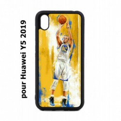 Coque noire pour Huawei Y5 2019 Stephen Curry Golden State Warriors Shoot Basket
