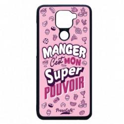 Coque noire pour Xiaomi Redmi K40 Pro et Pro+ ProseCafé© Manger C'est mon Super Pouvoir