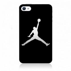 Coque noire pour IPHONE 4/4S Michael Jordan Fond Noir Chicago Bulls