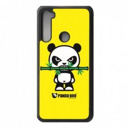 Coque noire pour Xiaomi Redmi 9 Power PANDA BOO© Bamboo à pleine dents - coque humour