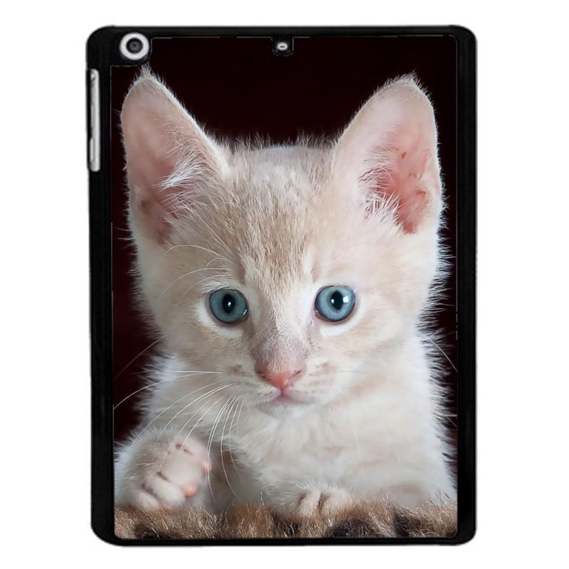 Coque noire pour Samsung Tab 3 10p P5220 Bébé chat tout mignon - chaton yeux bleux