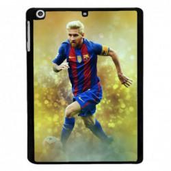 Coque noire pour Samsung Tab 3 10p P5220 Lionel Messi FC Barcelone Foot fond jaune