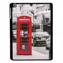 Coque noire pour Samsung Tab 3 10p P5220 Cabine téléphone Londres - Cabine rouge London