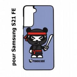 Coque noire pour Samsung S21 FE PANDA BOO© Ninja Boo noir - coque humour