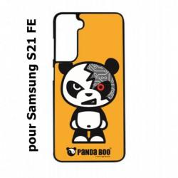 Coque noire pour Samsung S21 FE PANDA BOO© Terminator Robot - coque humour