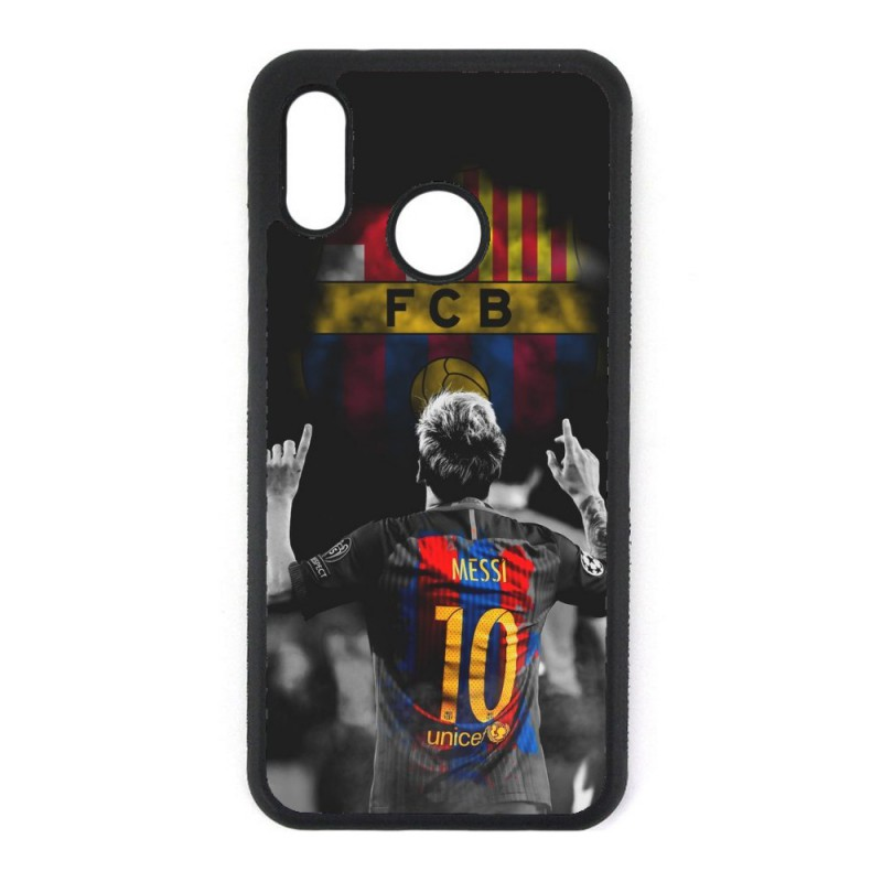 Coque noire personnalisée pour Smartphone Huawei P8 Lite 2017 Lionel Messi 10 FC Barcelone Foot