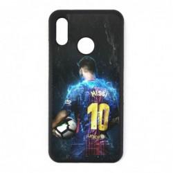Coque noire pour Huawei P20 Lite Lionel Messi FC Barcelone Foot