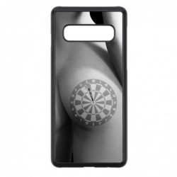 Coque noire pour Samsung Mega 5.8p i9150 coque sexy Cible Fléchettes - coque érotique