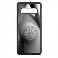 Coque noire pour Samsung Note 4 coque sexy Cible Fléchettes - coque érotique