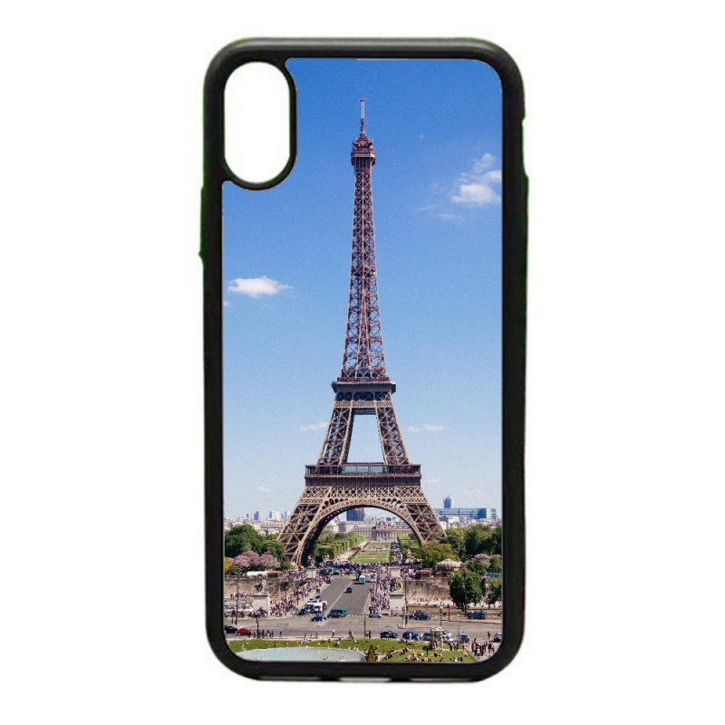 Coque noire personnalisée pour Smartphone IPHONE 5C Tour Eiffel Paris France