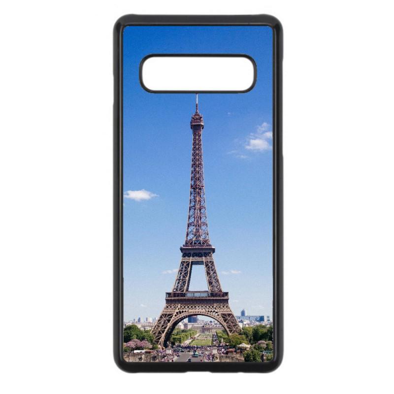 Coque noire pour Samsung S10 Plus Tour Eiffel Paris France