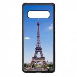 Coque noire pour Samsung Ace Plus S7500 Tour Eiffel Paris France