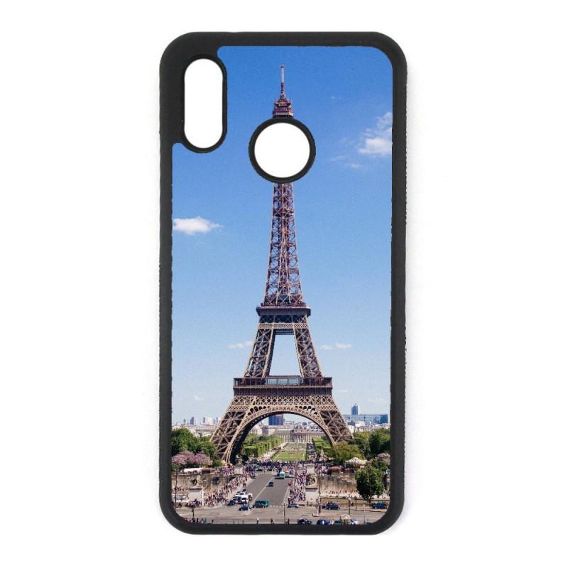 Coque noire personnalisée pour Smartphone Huawei P8 Lite 2017 Tour Eiffel Paris France