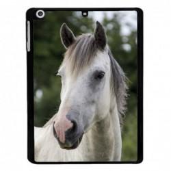 Coque noire pour IPAD MINI Coque cheval blanc - tête de cheval
