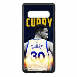 Coque noire pour Samsung S7 Edge Stephen Curry Golden State Warriors Basket 30