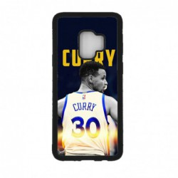 Coque noire pour Samsung S9 Stephen Curry Golden State Warriors Basket 30